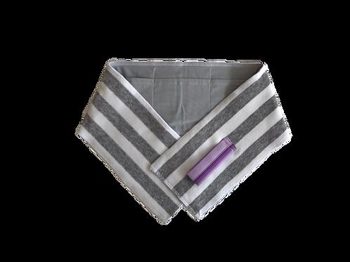 保冷剤ポケット付きタオル【小】B-1グレー