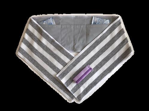 保冷剤ポケット付きタオル【大】B-1グレー
