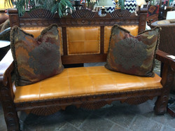 Tuscan Leather Bench