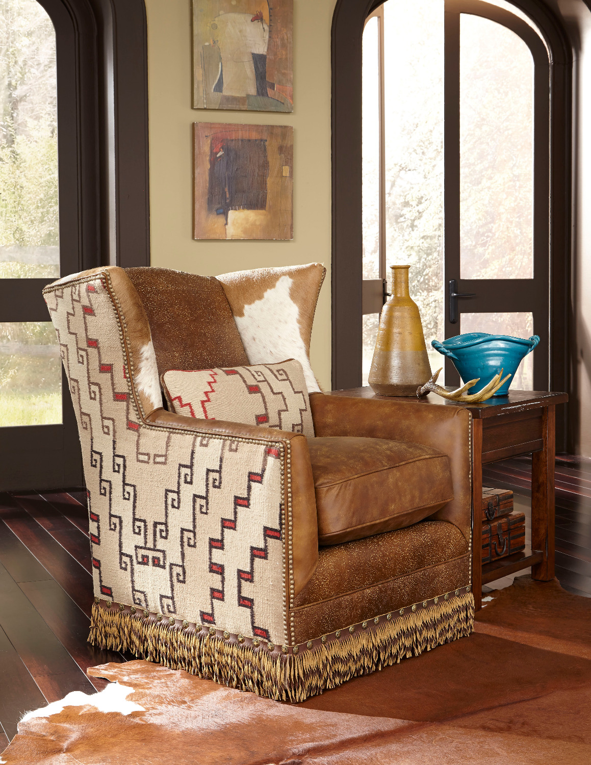 King Hickory Swivel Chair
