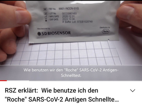 Tutorial: Wie benutze ich den Roche SARS-CoV-2 Antigen Schnelltest.
