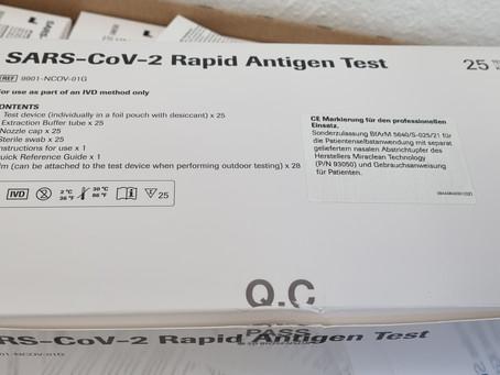 Sars-CoV2 Rapid Antigen Test Anleitung
