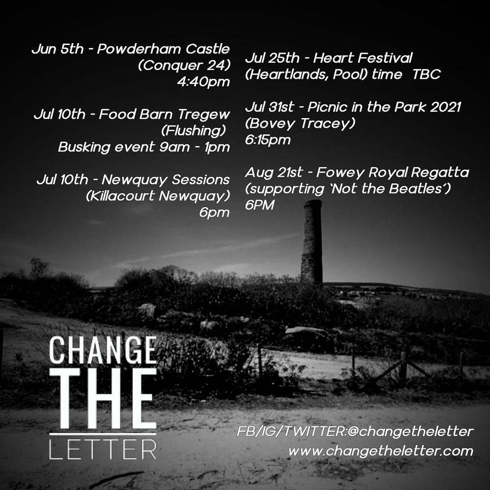 Change the Letter Live - Tour Dates 2021