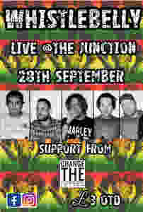 Whistlebelly play Live at The Junction, Plymouth, Saturday 28th September w/ support from Change the Letter