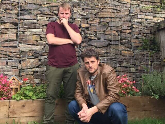 Change the Letter promo shot, October 7th 2020 (from left) Rob Griffiths, Rob Phillimore.