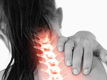 Tem dor na região da coluna cervical?