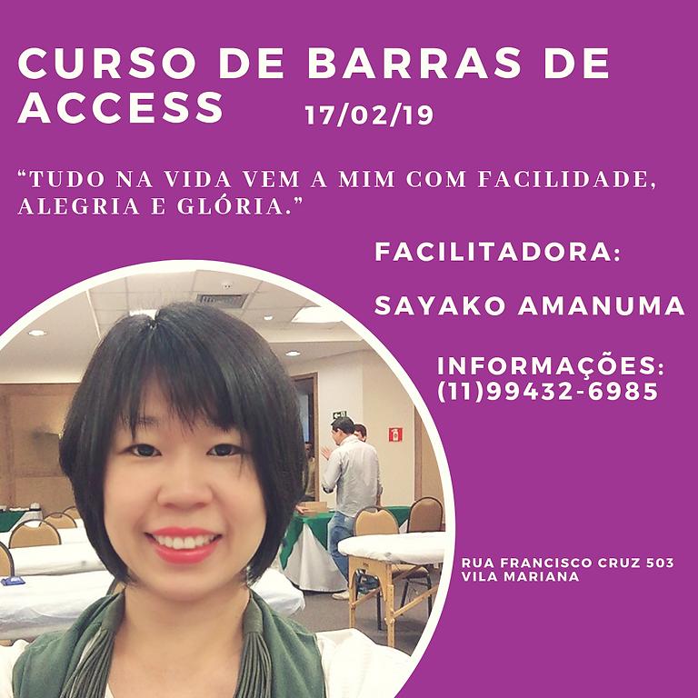 Curso de Barras Access - mudar é possível!