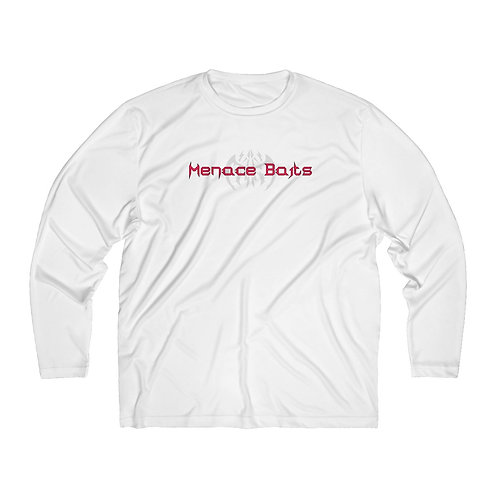 Menace Baits White Performance Long Sleeve Shirt