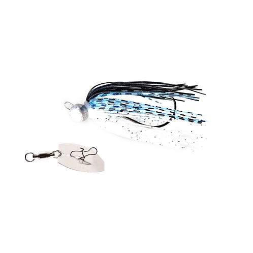 Blue Shad Original Menace Jig with a Menace Pulse Maker