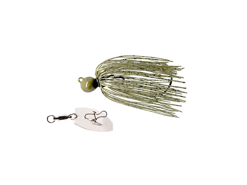 Green Pumpkin Original Menace Jig with a Menace Pulse Maker