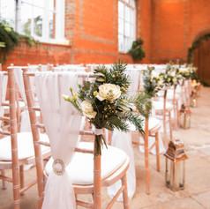 Wedding planning and venue set up