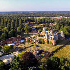 Arial view of Minley Manor estate