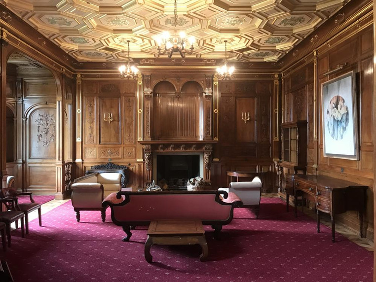 The jewel in Minley Manors crown - the historic oak panelled drawing room