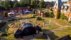 Arial view of grounds