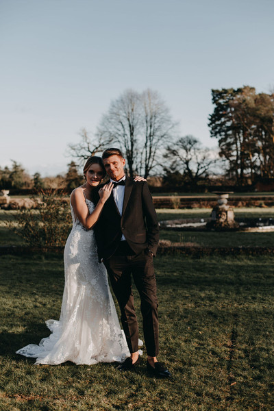 Golden hour for our winter wedding