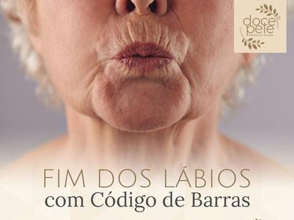"""Fim dos Lábios com """"CÓDIGO DE BARRAS"""""""