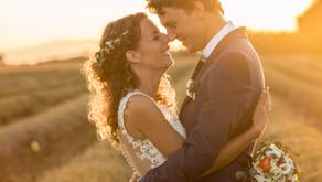 Mariage dans la ferme familiale dans le Verdon