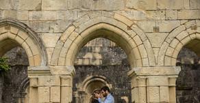 Séance engagement dans une abbaye en Dordogne (24)