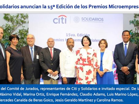 Citi y Solidarios anuncian la 15 Edición de los Premios Microempresariales