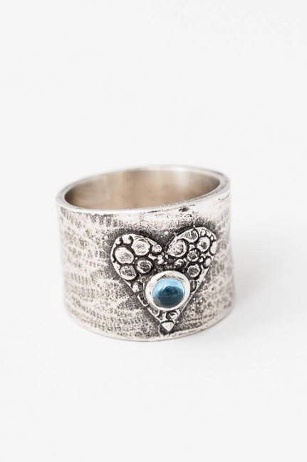 Heart and Stone Ring