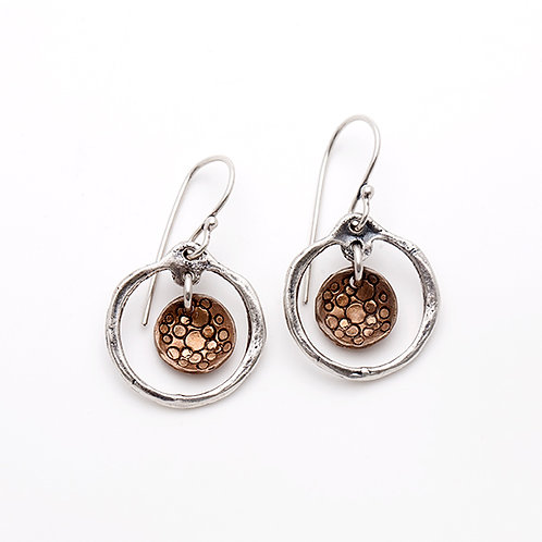 Dangle Hoops with Bronze Insert