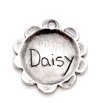 Large Flower Pet ID Tag