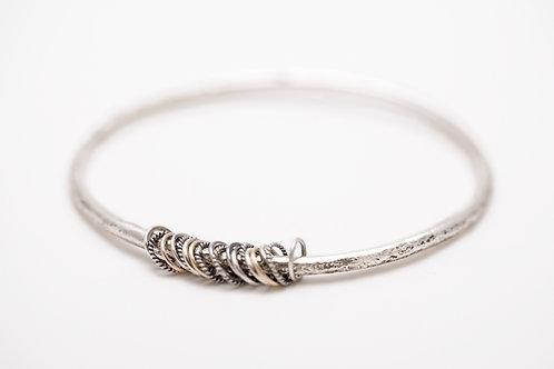 Bangle Bracelet with Rings