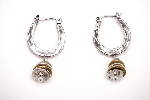 Hammered Dangly Hoops