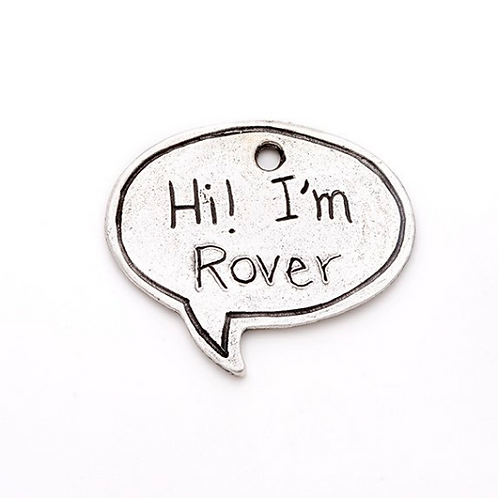 Large Speech Bubble Pet ID Tag