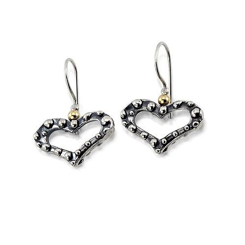 Bumpy Heart Earrings