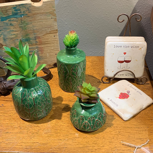 Vase & Coasters