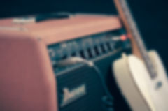 amplifier and guitar