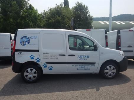 Ecco il nostro nuovo furgone, grazie Fondazione CRTrieste!
