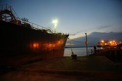 Anchored-ship