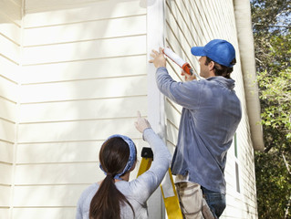 Caulking repairs on exterior of your home!