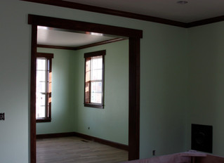 So you want to paint that old stained woodwork