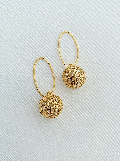 Moon Earrings (18K Gold plated on Silver)