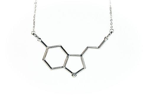 Serotonin Necklace (Rhodium plated on brass)