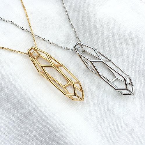 3D Geometric Necklace Pendant