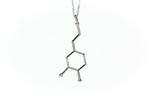 Dopamine Necklace (Rhodium plated on brass)