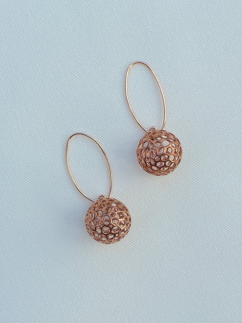 Moon Earrings (Rose Gold plated on Silver)