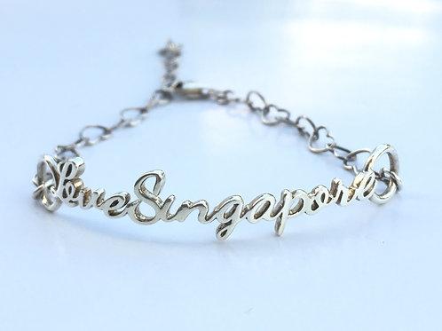 Love Singapore Silver Bracelet