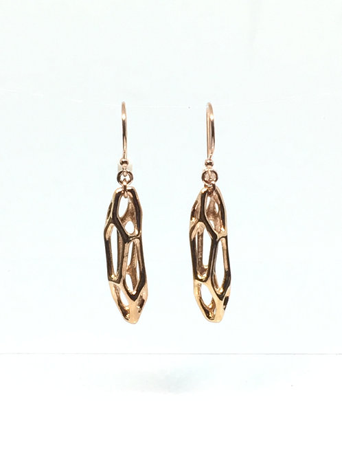 Voronoi Earrings (Rose Gold plated on brass)