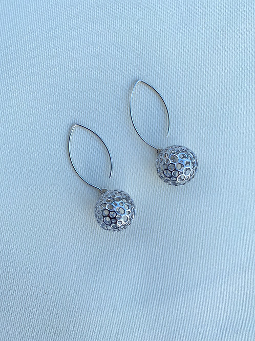 Moon Earrings (Rhodium plated on Silver)