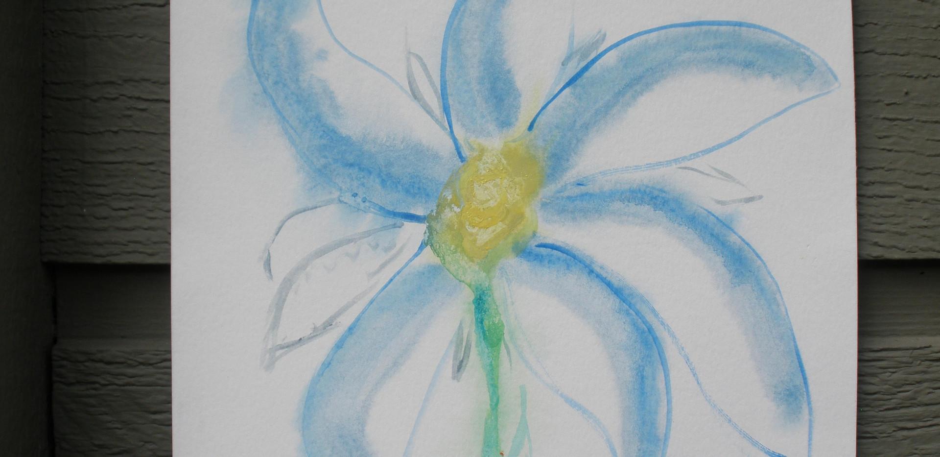 Daisy Impressionist Oil Pastel