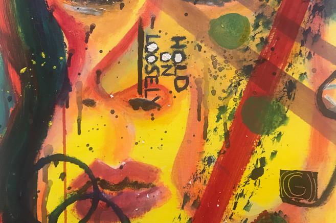 80s Rocker Acrylic Painting