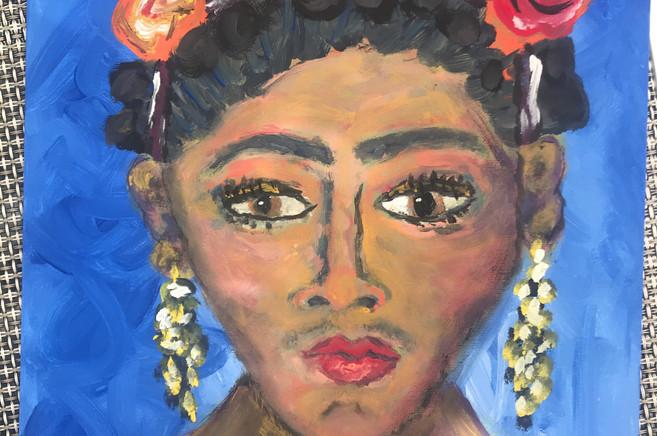 Frida Kahlo Acrylic Painting