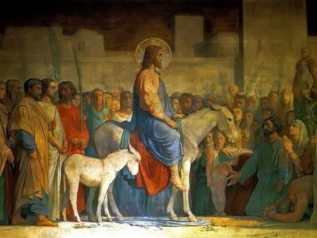 Entrada Triunfal Jesus como Señor