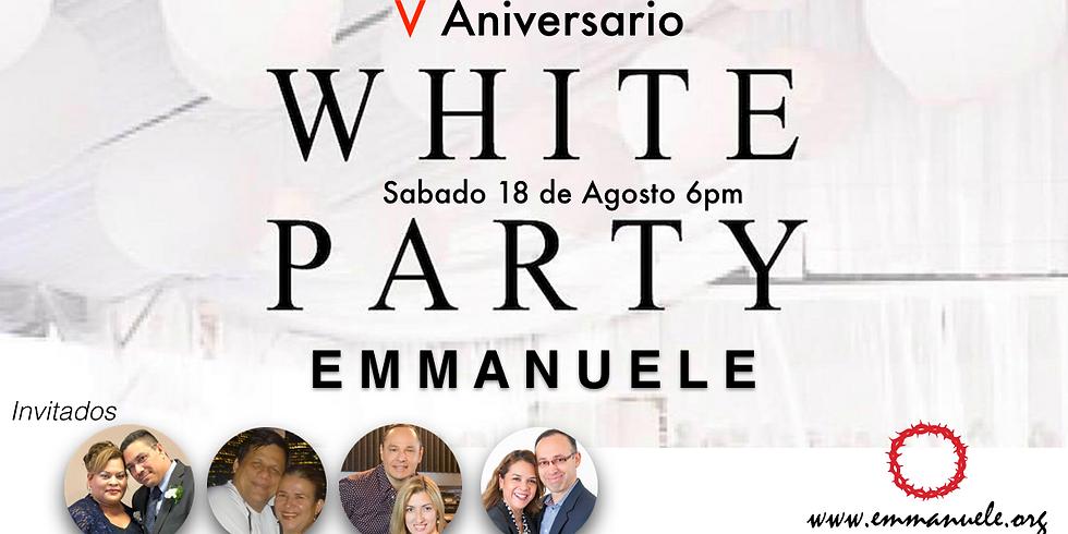 V ANIVERSARIO WHITE PARTY