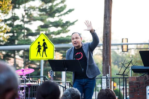 Predicando al aire libre